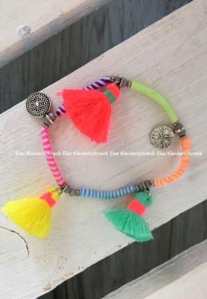 Blogger Armband BOMMEL Neon Armschmuck Kette Armreifen Armspange Sommer Urlaub
