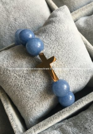 Blogger Armband Perlenschmuck Kreuz gold Armreifen Blogger Schmuck Pastell
