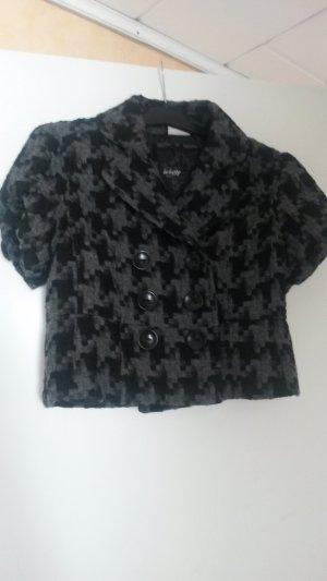 Street One Blousejack grijs-zwart Wol