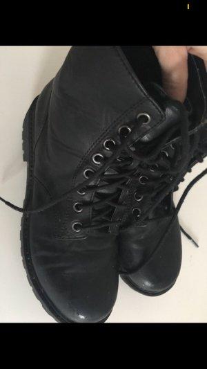 H&M Bottes à lacets noir