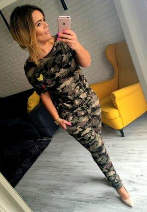 Blogger Camouflage Tarn Army Military Overall Hosenanzug Einteiler M-Xl