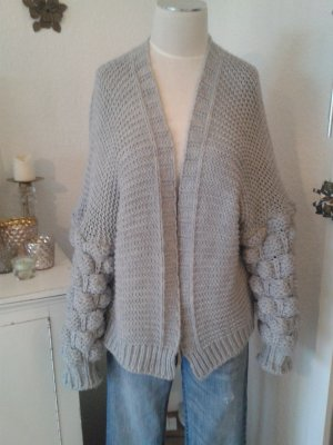 Knitted Cardigan silver-colored