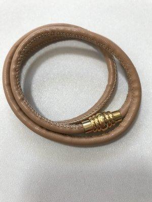 Blogger Christ Juweliere Steel by Christ Armband aus Leder Nude Beige Gold mit Magnetverschluss - NEU und ungetragen!