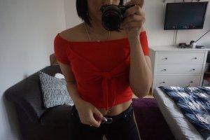 Blogger crop Top knot Gr S