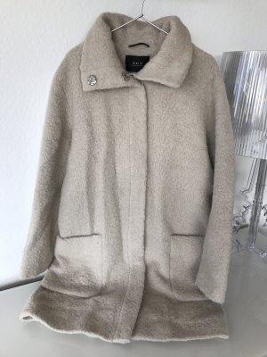 Blogger Designer Mantel von SET aus Alpaca Wolle Creme Nude Gr. 36 / S - neuwertig!