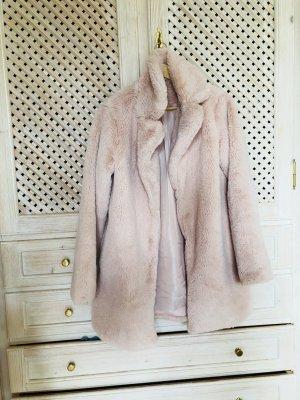 Blogger Fake Fur Mantel Teddy rosa Gr. S
