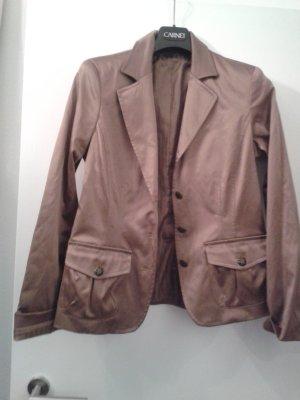 Veste de smoking bronze-marron clair coton