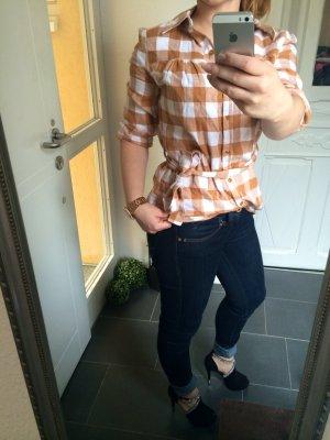 Camicia blusa bianco-beige