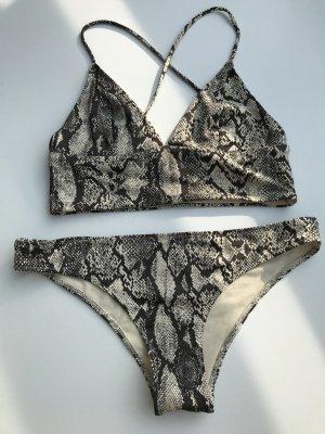 Blogger H&M Bikini mit Schlangenmuster Snake Print Gr. 36 / 38 - neuwertig!