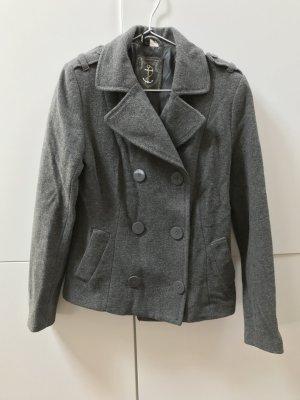 Blogger H&M Jacke Übergangsjacke mit Knopfleiste Grau Gr. 38 / M - nur wenige Male getragen!