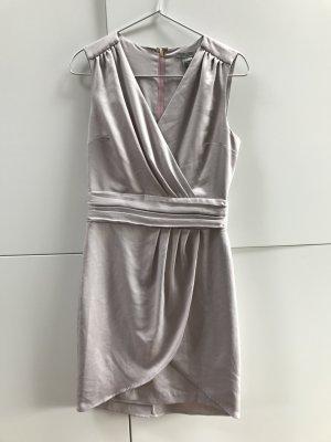 H&M Avondjurk zilver-stoffig roze