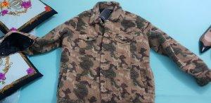 blogger hemdjacke army Camouflage teddyfell gr M L
