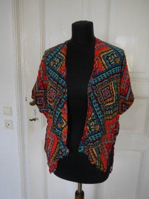 Blogger Hippie Kaftan Kimono Top bunt gemustert