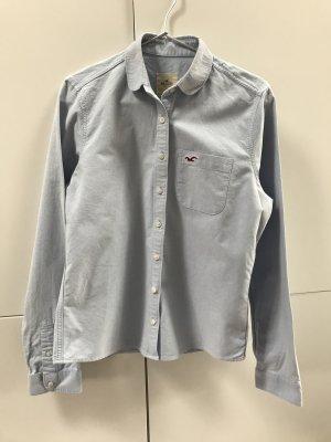 Blogger Hollister Hemd Bluse Hellblau mit Logo - nur einmal getragen 100% neuwertig!
