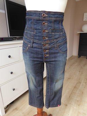 Blogger Jeans mit hohem taillierten Bund