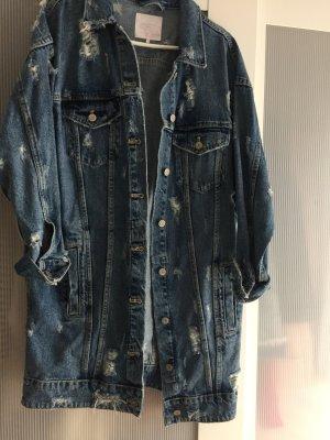 Zara Veste en jean bleu-bleu clair