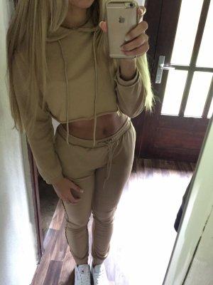 Blogger Jogginganzug in nude/beige 2-teilig