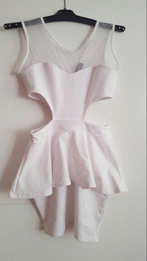 Club L Vestido cut out blanco