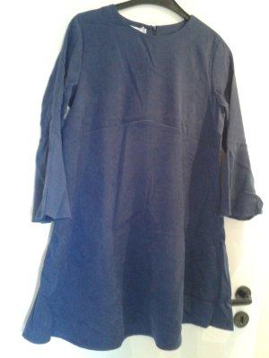 Leather Dress steel blue-cornflower blue