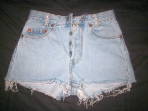Blogger Levi Strauss Levi s Jeans Shorts Hot Pants Hotpants Denim 34 36 XS W 27