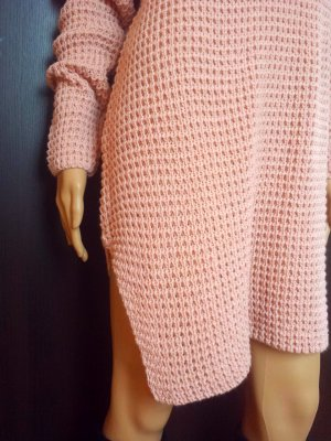 0039 Italy Sweater Dress rose-gold-coloured-dusky pink