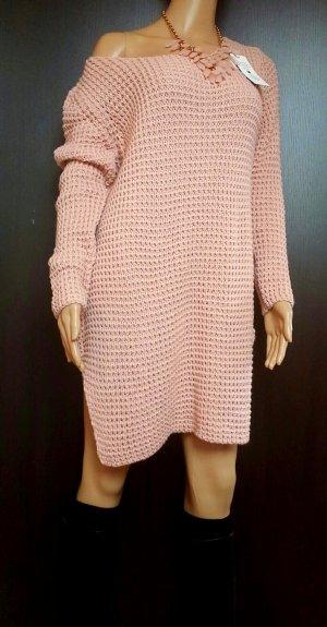 0039 Italy Sweaterjurk stoffig roze-rosé