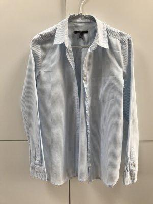 Blogger Mango Hemd Bluse Hellblau Weiß gestreift Gr. 36 / S - nur einmal getragen 100% neuwertig!