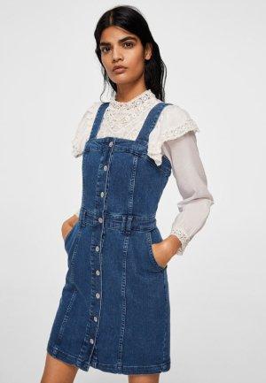 Blogger Mango Kleid Jeans Jeanskleid Dark Blue Dunkelblau Gr. 36 / S - NEU und ungetragen!