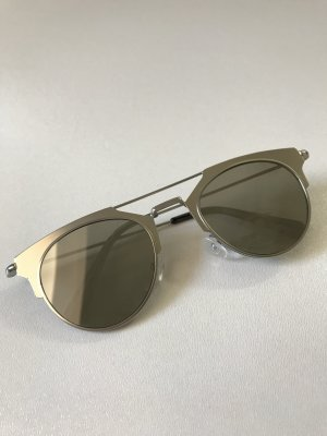 Blogger MANGO Sonnenbrille aus Metall Silber - NEU und ungetragen!