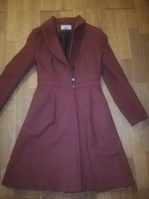 H&M Geklede jurk roodbruin