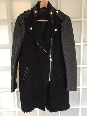 Zara Chaqueta larga negro