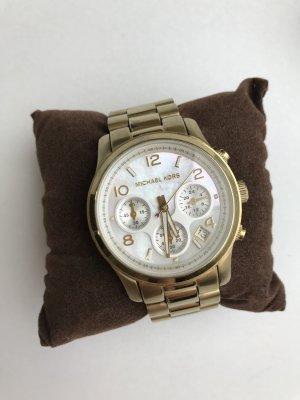 Blogger Michael Kors Uhr Chronopraph MK5305 Gold mit Perlmuttziffernblatt - sehr guter Zustand!