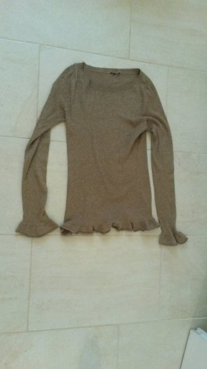 Hennes Collection by H&M Christmasjumper sand brown-gold-colored viscose
