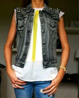 Blogger nieten jeans Weste