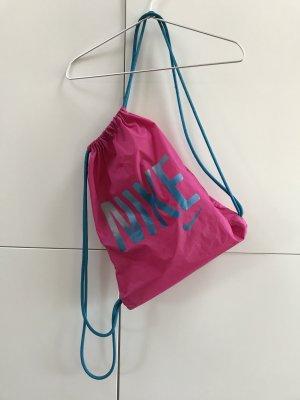 Blogger Nike Tasche Sporttasche Sportbeutel Turnbeutel Pink Blau - sehr guter Zustand!