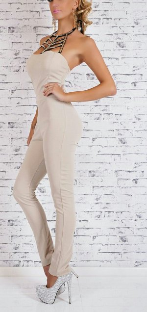 Blogger Overall Jumpsuit 34-38 beige