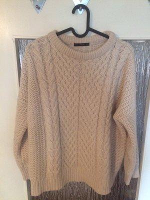Zara Pullover a maglia grossa bianco sporco
