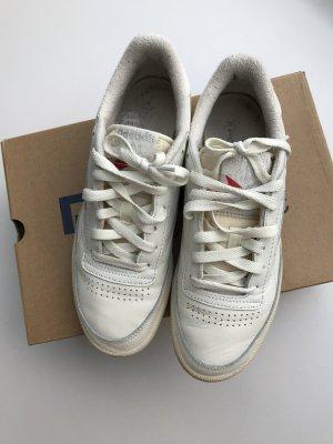 Reebok Basket à lacet blanc cassé-argenté cuir