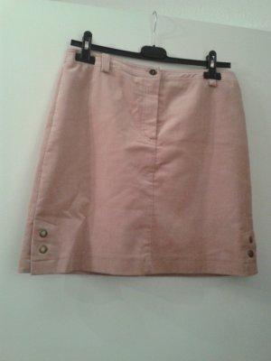 Falda de tubo rosa empolvado-color rosa dorado Algodón