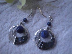 BLOGGER * Schöne handmade Ohrringe * blau-silberfarben * NEU