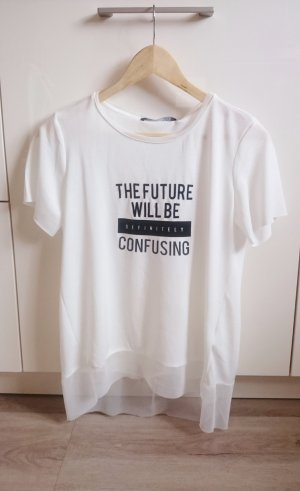 Blogger Shirt weiß/schwarz Gr. S