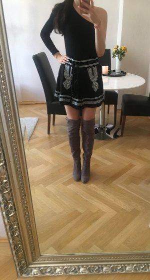 """Blogger Skirt """"Boho"""" Romeo & Juliet Couture Größe S schwarz weiß mit Glöckchen <3"""
