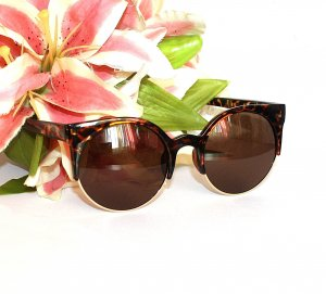 Blogger Sonnenbrille Butterfly Brille Braun Gold Leo