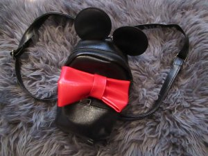 #Blogger Statement Minnie Mouse Rucksack hochwertiges Kunstleder Black & Red Ohren Sweet Trend#