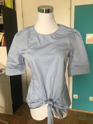 Blogger-Style: Hellblaue Bluse mit Knoten, 3/4 Ärmel, Promod, 34