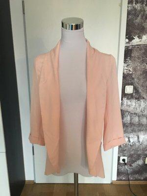 Blogger-Style! Perfekt für den Sommer! Cooler offener Blazer, 3/4 Ärmel, rosa, 32