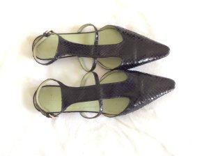 Blogger Style Prada Sandalette aus echtem Schlangenleder