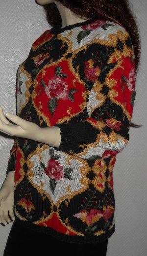 Blogger Swag Strick Pulli Pullover Strickpullover Blumen Blüten 36 38 40 XS S M