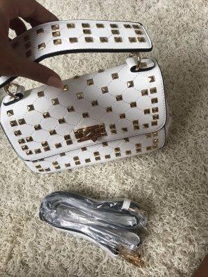 Blogger Tasche weiß Nieten