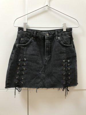 Topshop Denim Skirt dark grey